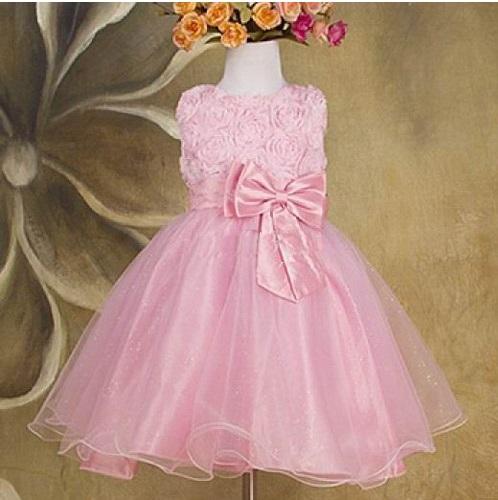Společenské dětské šaty 2 ružové