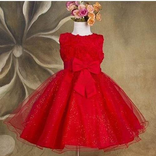 Společenské dětské šaty 2 červené