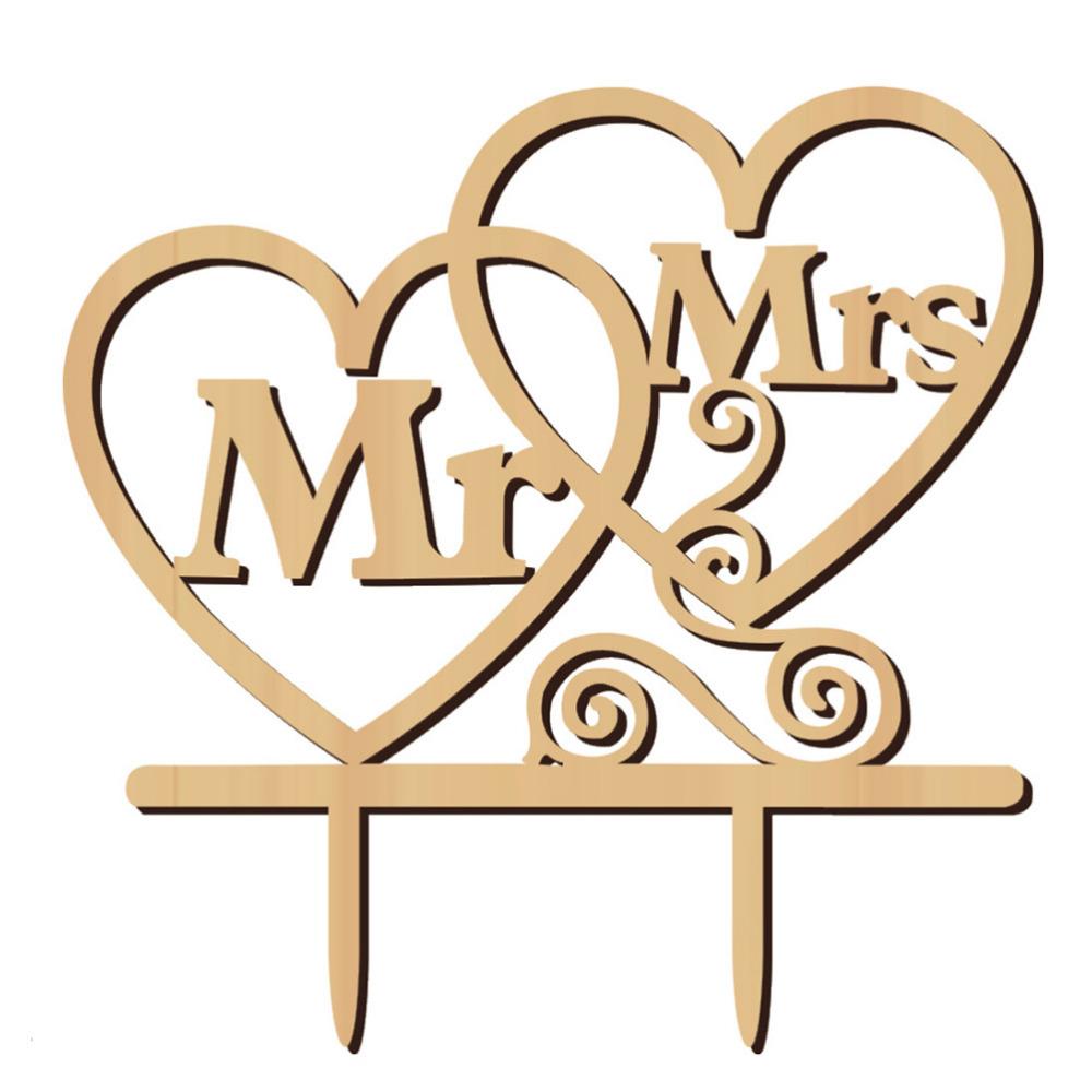 Svatební ozdoba na dort MR&MRS
