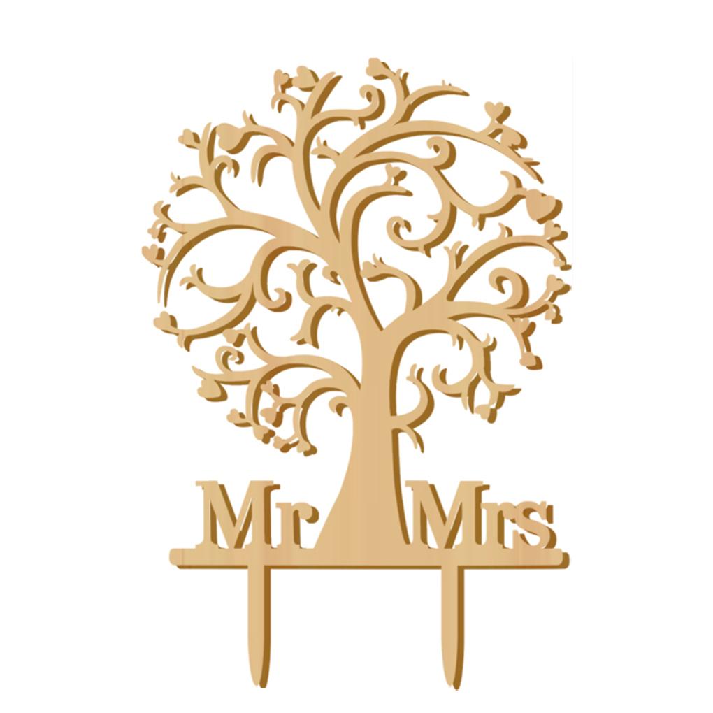 Svatební ozdoba na dort MR&MRS 2