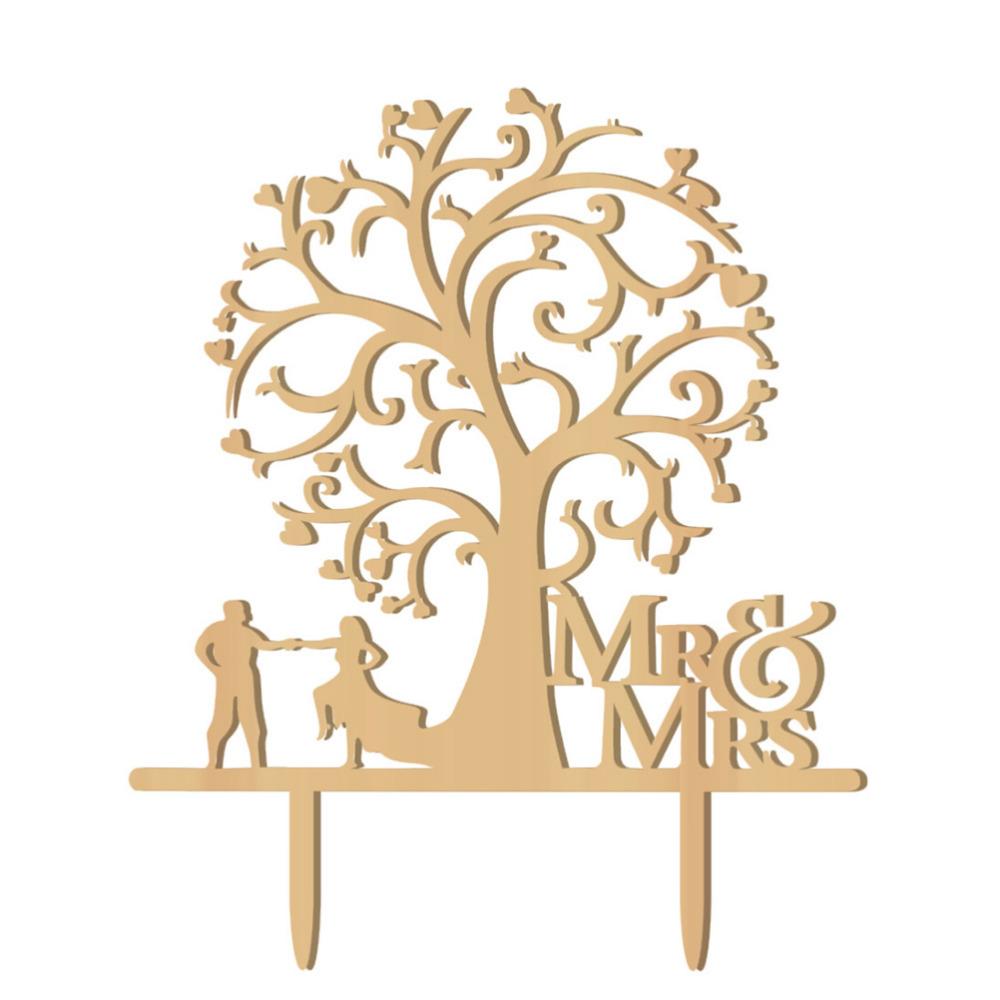 Svatební ozdoba na dort MR&MRS 3