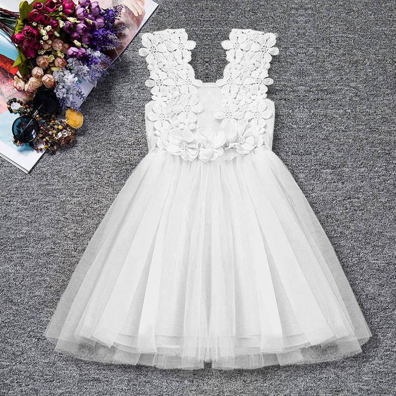 Dětské společenské šaty bílé 5 1a32385151