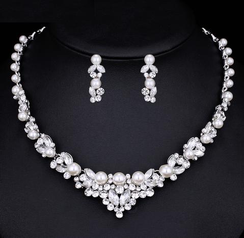 Svatební souprava šperků s krystaly, FLOWER I
