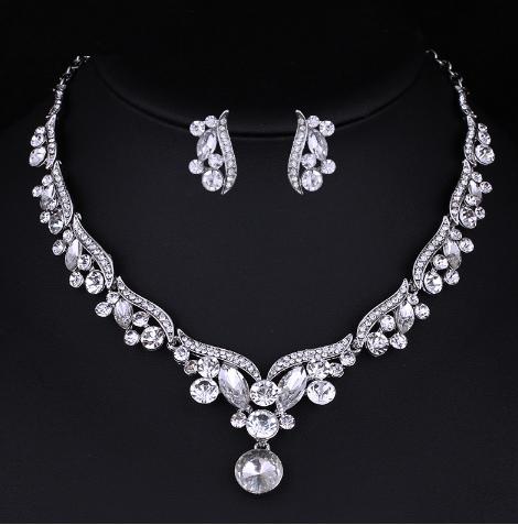 Souprava šperků (náušnice a náhrdelník) CRYSTAL TEARS, svatební