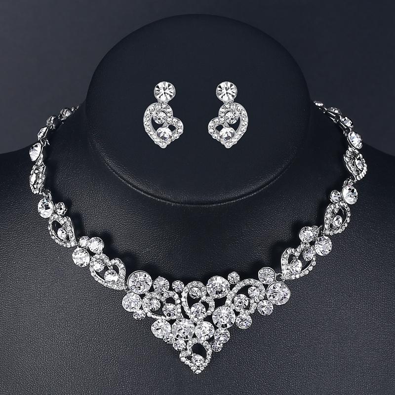 Souprava šperků (náušnice a náhrdelník) HEART, svatební