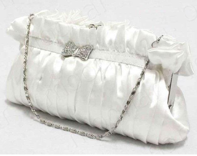 Dámská bílá kabelka IVORY, satén