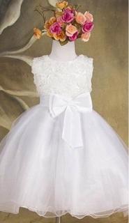 Společenské dětské bílé šaty 2 cea1690a2f